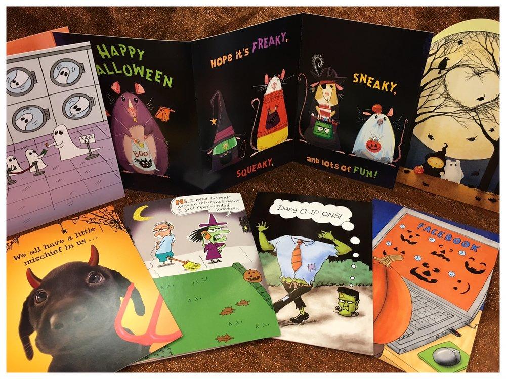 Halloween 2017 cards assortment.JPG