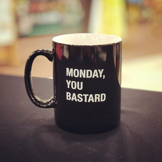 Our feelings about this snowy Monday morning.  #mondaymorning #acaseofthemondays #coffeemug #snowymorning #facesmainstreet