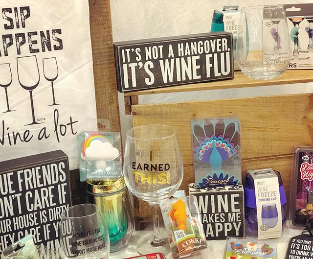 Make your #winewednesday more amazing with fun wine accessories🍷Shop these great finds and more, all 30% off during Markdown Madness!  #winelover #winemakesmehappy #siphappens #winecharms #wineglass #drinkwine #markdownmadness #facesmainstreet
