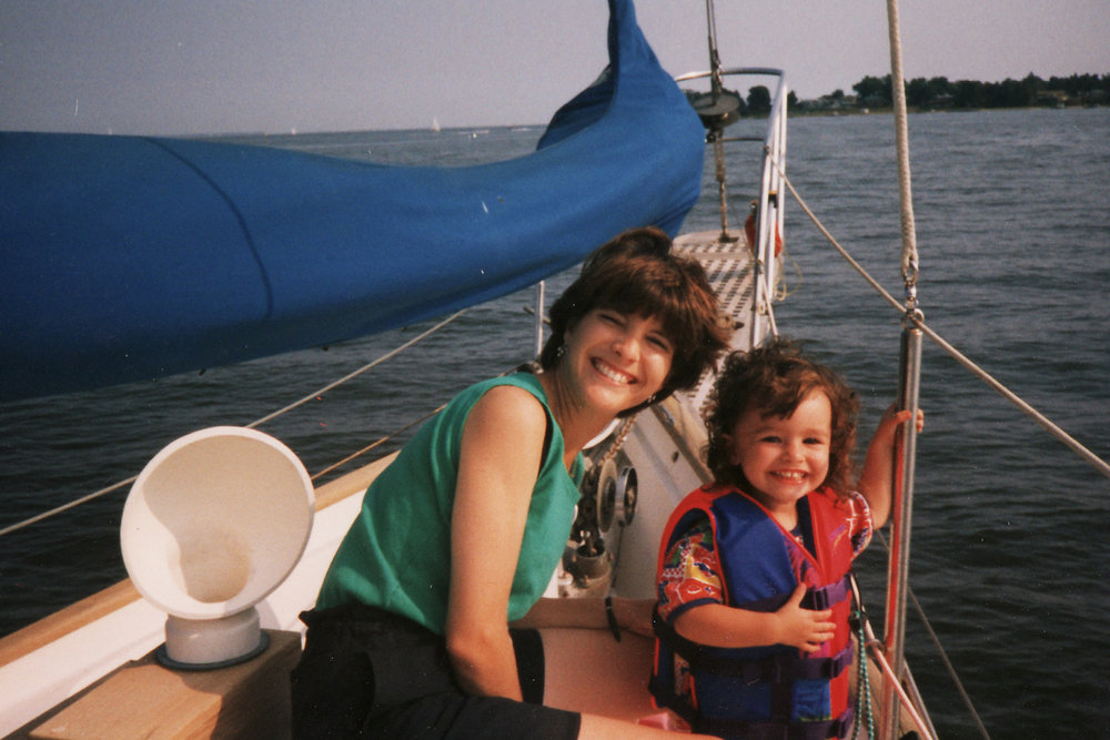 A day trip doing one of Casey's favorite things, sailing on Grandpas Sailboat