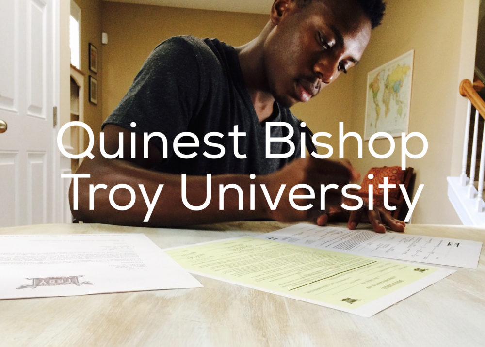 Headed to Troy University! - Quinest Bishop headed to Troy University on an athletic scholarship within weeks of joining our team.