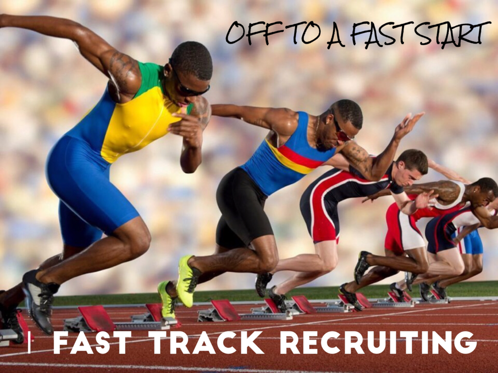 - COLLEGE TRACK AND FIELD RECRUITING by Willy WoodThis week has been a great week for Fast Track Recruiting. Several of our senior track and field / cross country athletes have made verbal commitments and will be signing early with some of the nation's top academic schools and college college track and field programs. We have young men and women headed to Dartmouth, University of Chicago and the United States Naval Academy. We are making a noticeable difference with our junior athletes as they are receiving numerous phone calls from coaches all over the country.Over the past week alone, our athletes have heard from the following schools:Alabama, American, Bradley, Brown, Bryant, Bucknell, Chicago, Colgate, Columbia, Cornell, Dartmouth, Drake, Duke, Elon, Emory, Fairfield, Fordham, John's Hopkins, Harvard, Haverford, Kentucky, Louisville, MIT, Missouri, North Carolina State, NAU, Penn, Princeton, Purdue, Syracuse, Tennessee, TCU, UCSD, UNC Charlotte, Washington University, William & Mary, Xavier, and Yale.Fast Track Training is also flourishing. Every runner currently training in our program has run a significant PR this fall. Two of our runners are ranked #1 in their state for their particular grade level. In addition, we will soon be partnering with a technology company to vastly and uniquely enhance this service.