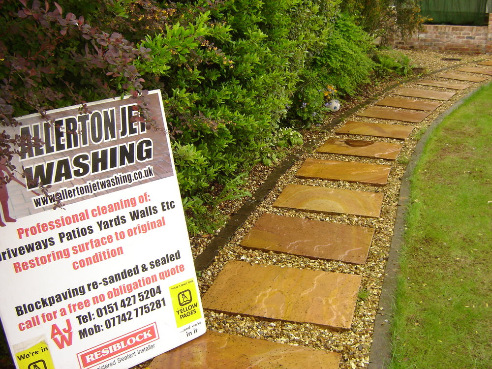 Stepping Stone path after pressure washing