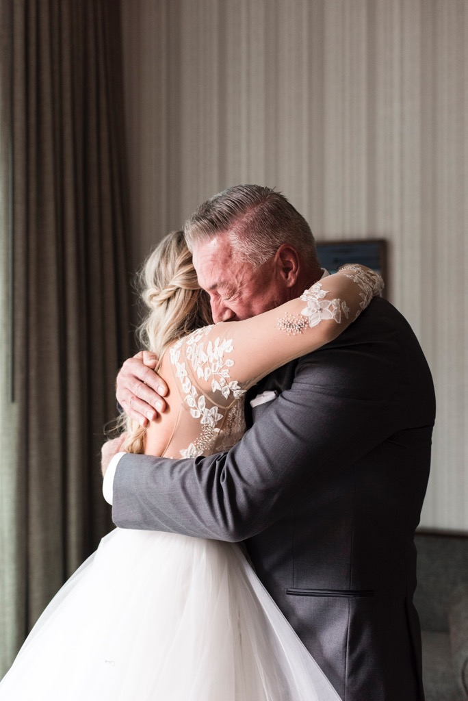 Okay, technically this is a lodge photo too. How sweet is this moment with my dad? I am so happy we did a first look together because it helped us not blubber like babies down the aisle! I'll always be daddy's little girl!