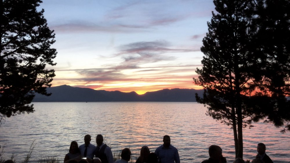 This was the sunset on our wedding night (and pretty much every night at Edgewood!).