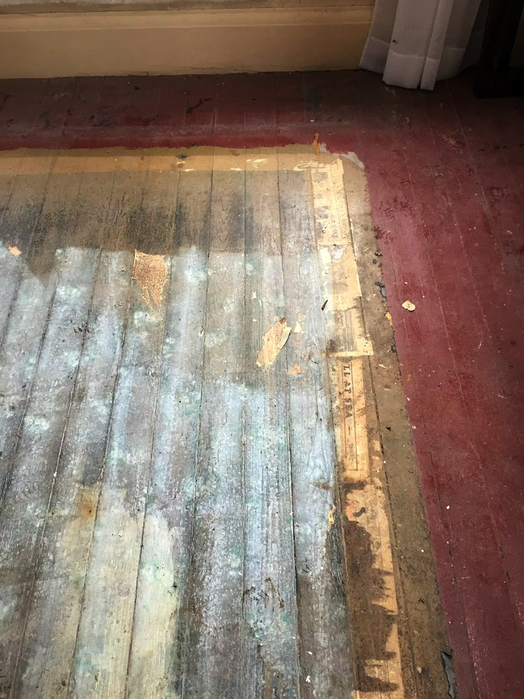 How We Refinished Our 166 Year Old Painted Floors Brooklin Heirloom