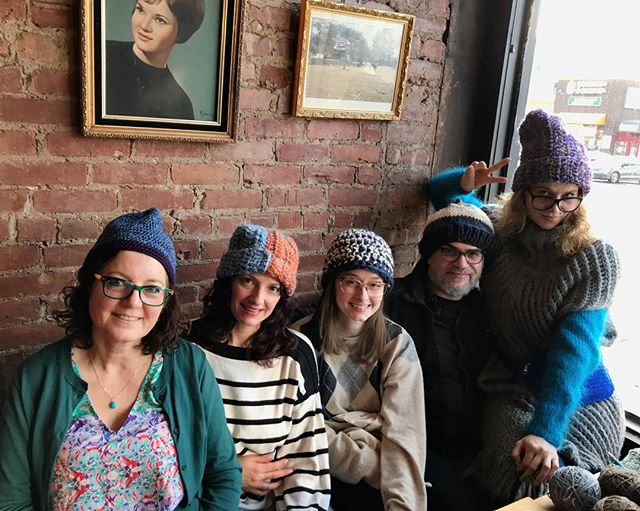 One hat a day, keeps the doctor away!  Our #crocheted & #knitted gifts for @urbanpathways