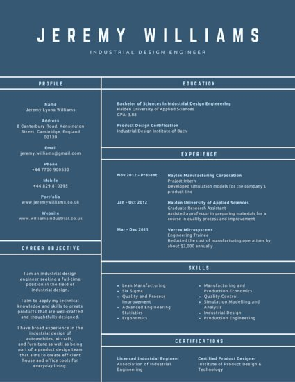 Canva Conventional Industrial Design Engineer Resume MABY6Fc8ZfE