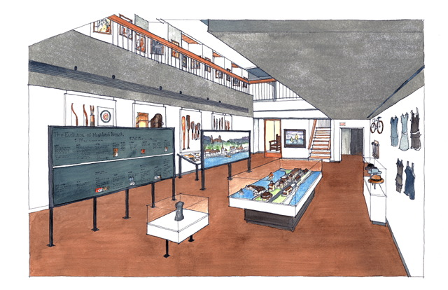 Artistic rendering of future Jersey Coast Heritage Musuem (TBD), Anderson Campanella Architects, Rumson, N.J.