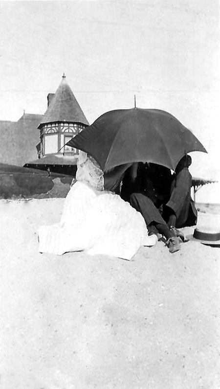 Under the Parasol at Highland Beach: ca early 1900s