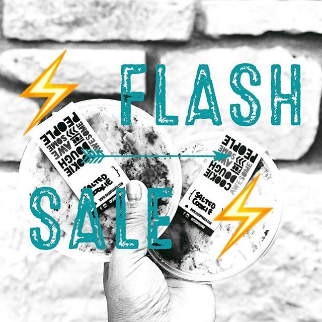 ⚡️FALLBACK Flash Sale ⚡️ To honor daylight savings time...were dough-ing a late night flash sale. Deliveries will be made 10p-12a. All doughs only $5. Flavors: • salted cookie • birthday bomb • chocolate chip (