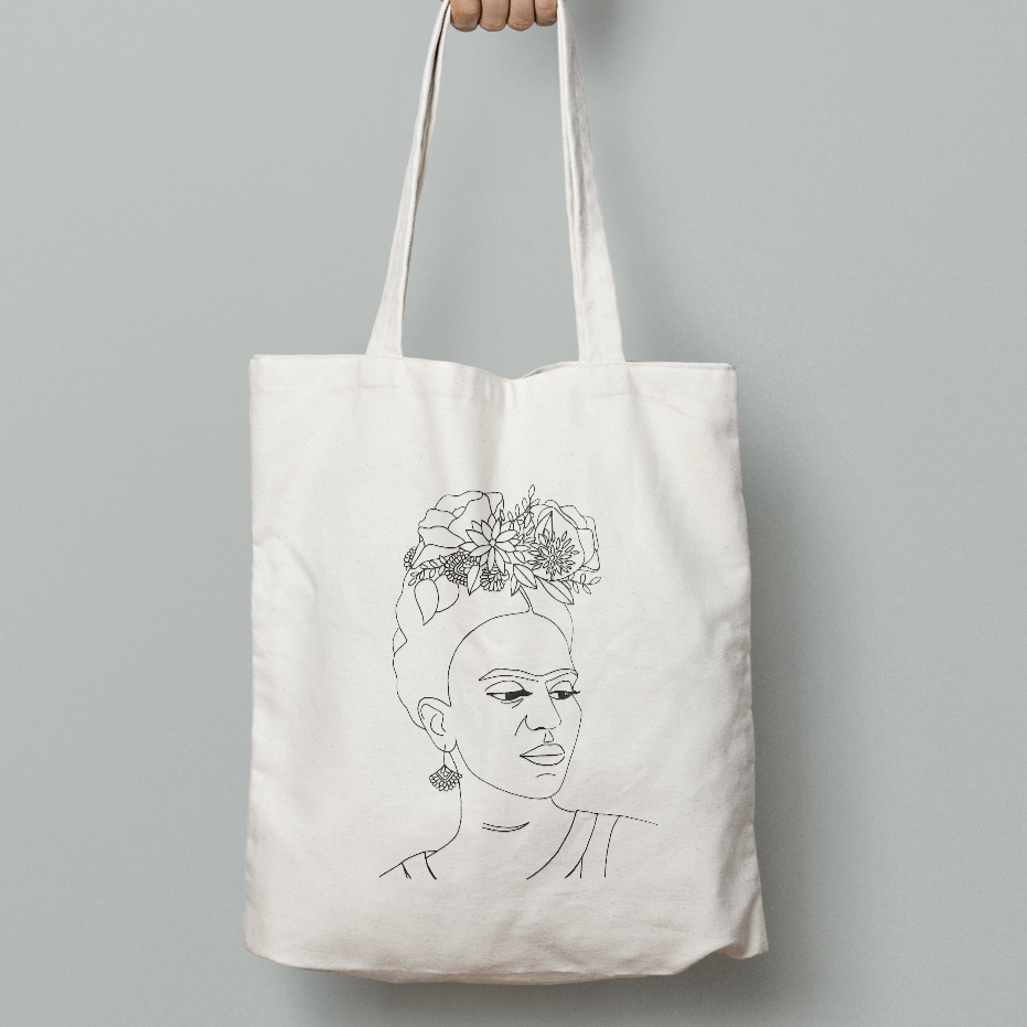 Frida Khalo Canvas Bag