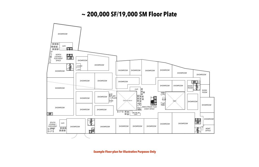 Example Showroom Floor plan