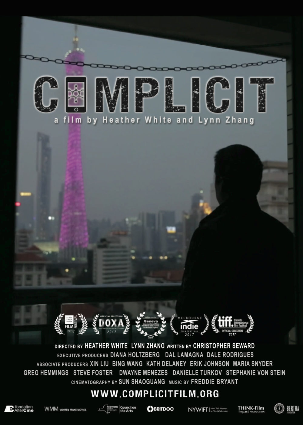 COMPLICIT - 2017, USA/China, 88 min, in Mandarin & English.The intimate journey of Chinese migrant worker Yi Yeting, a benzene-poisoned victim-turned-activist who takes on the global electronics manufacturing industry. Complicit reveals the true human cost of the devices we can't live without.