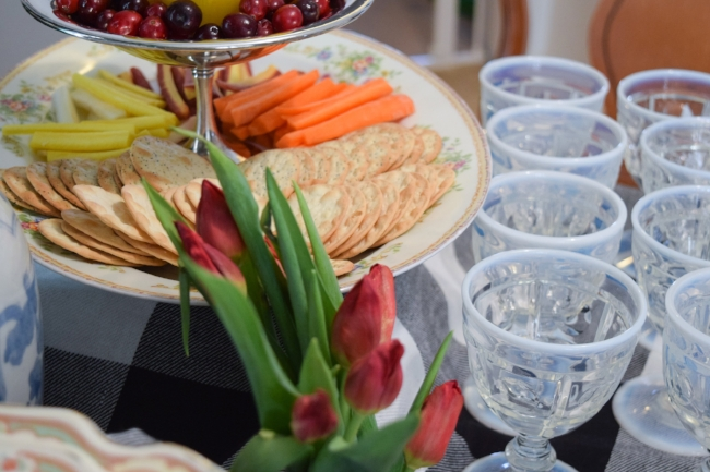 entertaining with vintage platters
