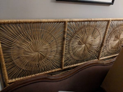 Queen Sized Rattan Headboard - $20