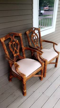 Set of 4 Wicker Chairs - $50