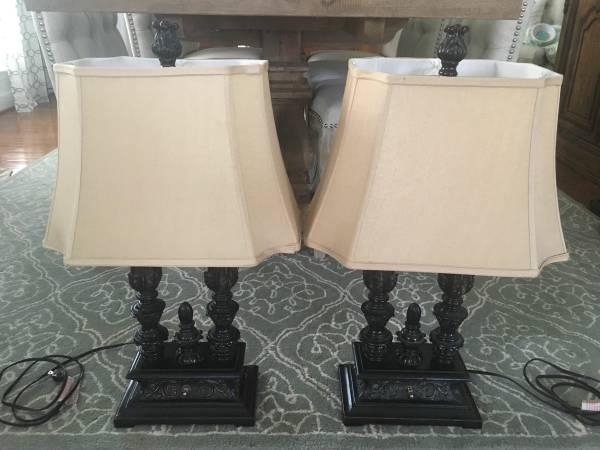 Pair of Black Lamps - $40