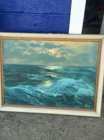 Mid Century Oil Painting - $50