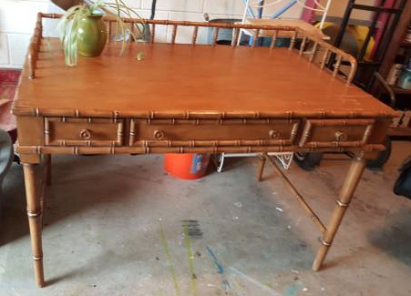 Bamboo Desk/Vanity - $125