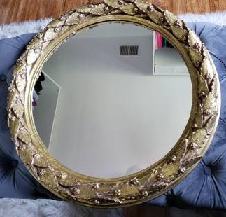 MIRROR LEAF DESIGN - $25