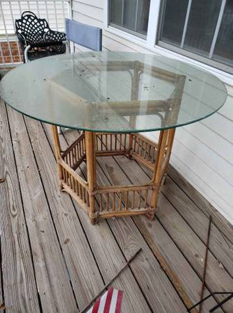 Bamboo Patio Table - Free