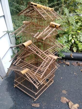 Bamboo Handmade Birdcage - $50