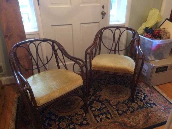 Pair of Rattan Chairs - $30