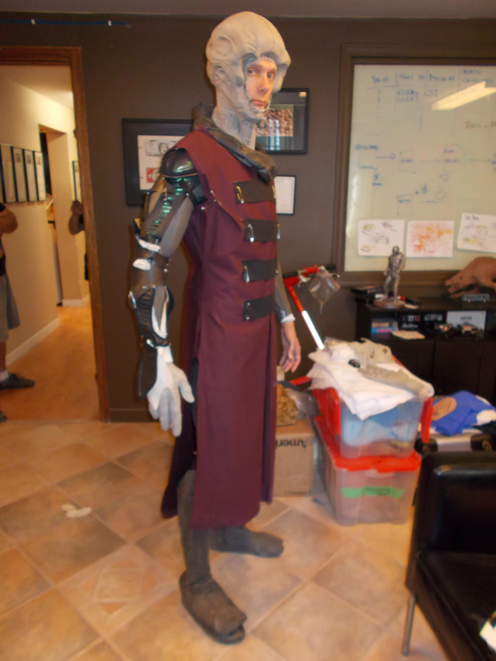 Alien Ambassador - LeatherCoat & Hood originally made for Cochise