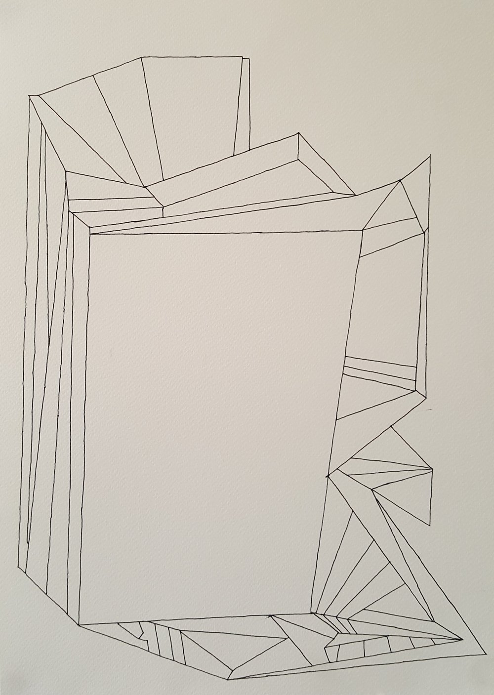 Untitled (2016): pen on paper 30cm x 42cm