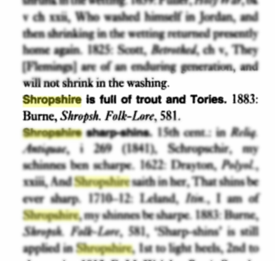"""Trout and Tories"" (Apperson,  English Proverbs and Proverbial Phrases: A Historical Dictionary , 1929)"