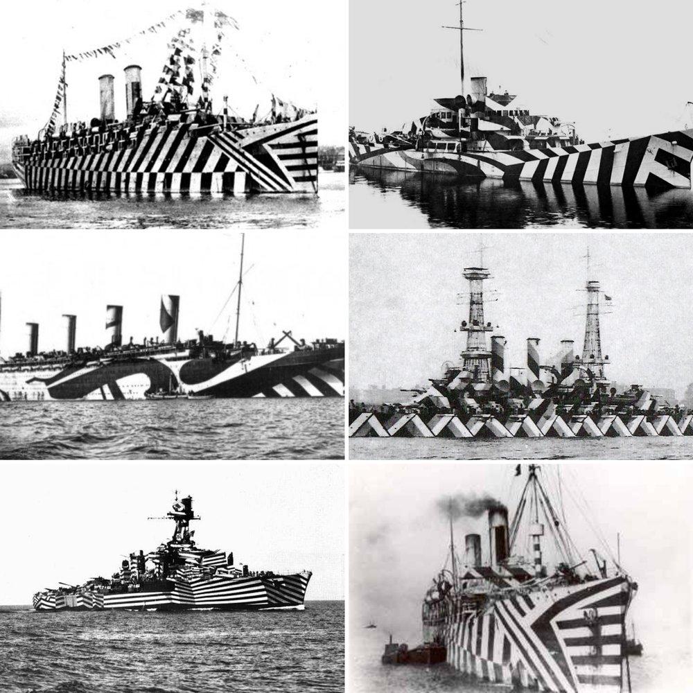 WW1 Dazzle Ships
