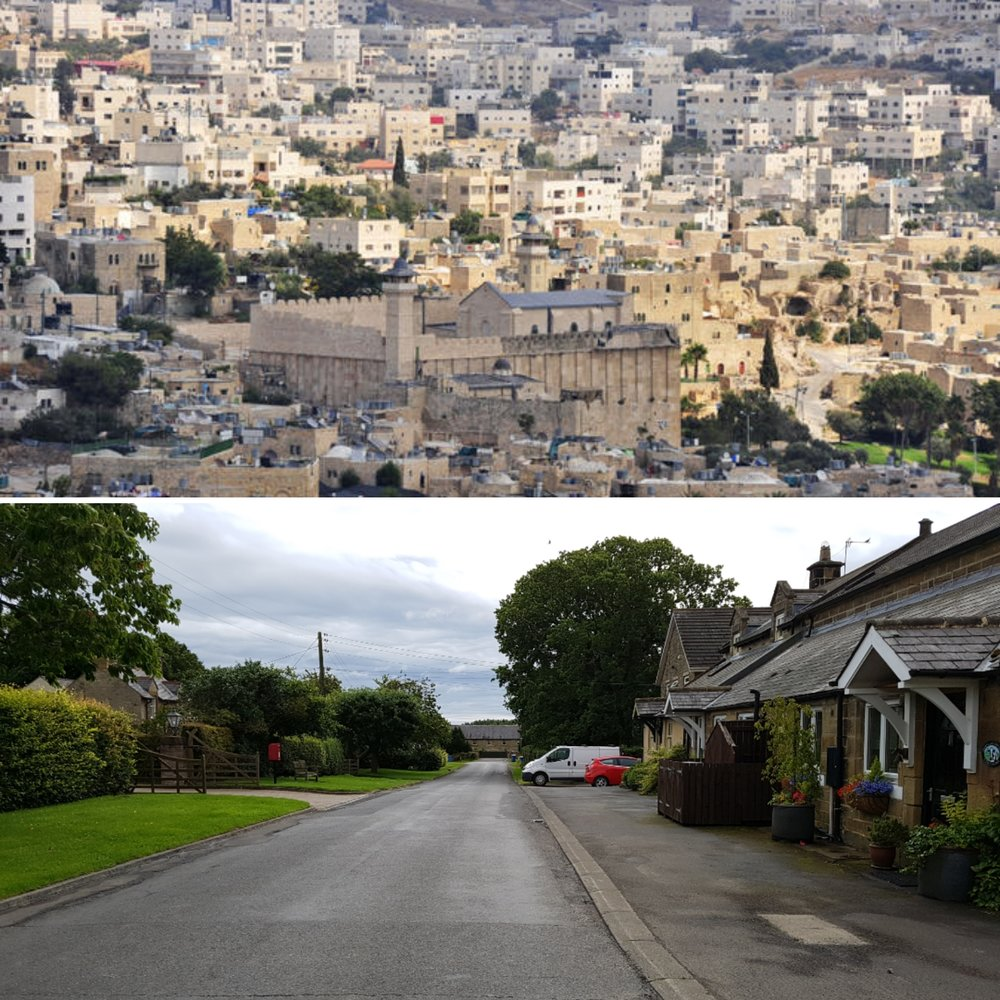 TOP: Hebron, Palestine BOTTOM: Hebron, Northumberland