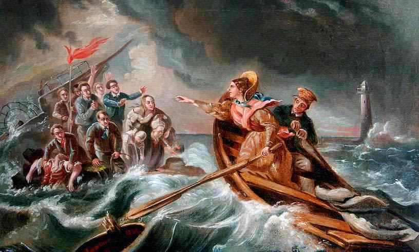 Grace Darling  by Horatio McCulloch (1838)