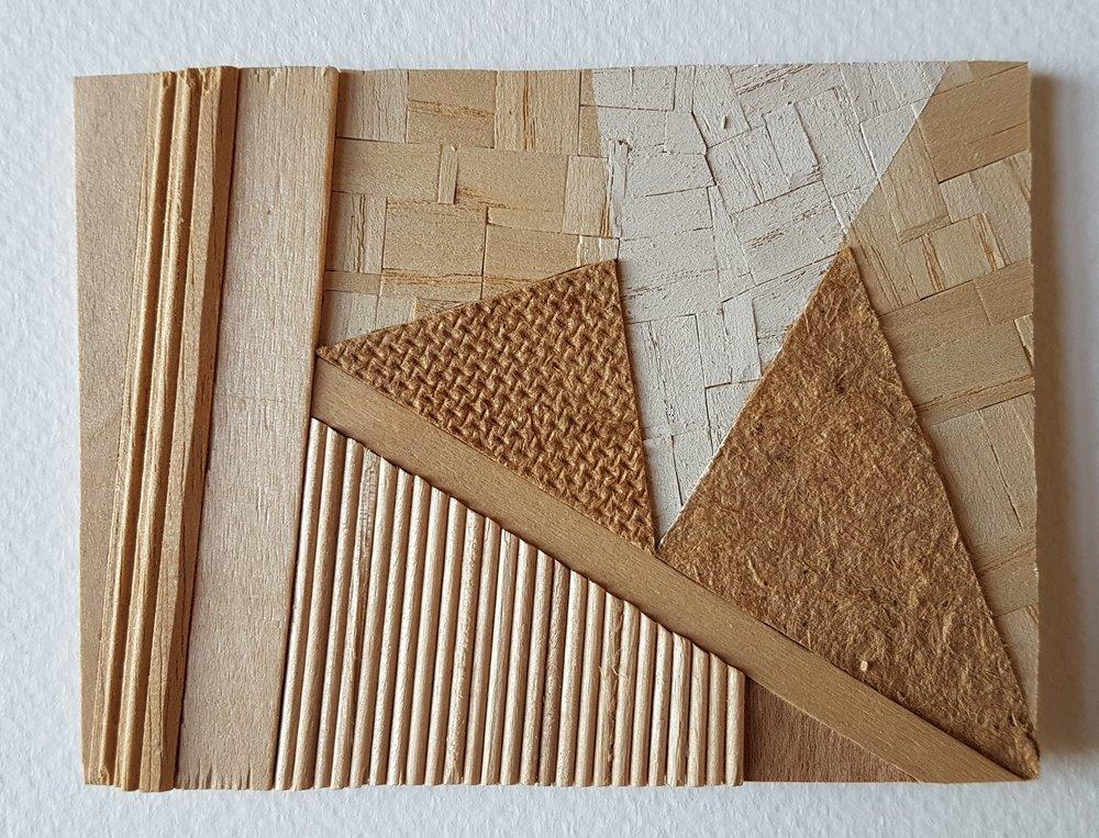 Series 64-33 (2013): wood veneers and mixed media 10cm x 8cm