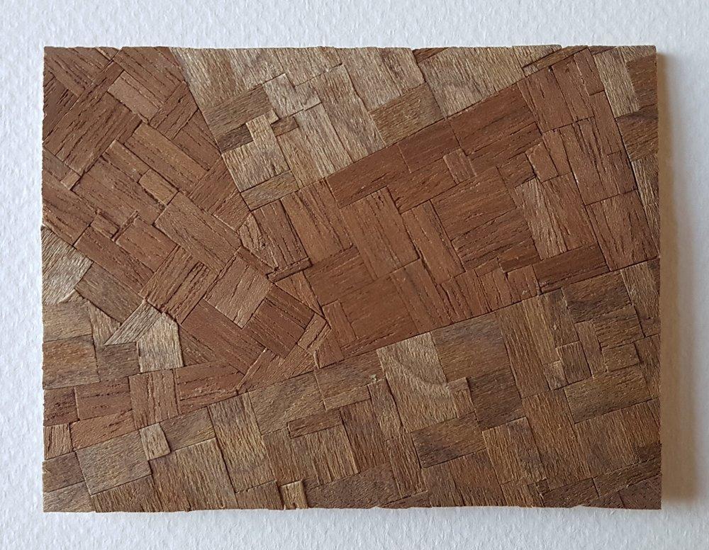 Series 64-41 (2013): wood veneers and mixed media 10cm x 8cm