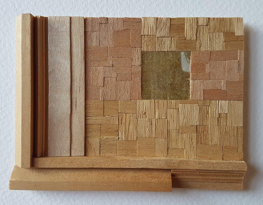Series 64-57 (2013): wood veneers and mixed media 10cm x 8cm