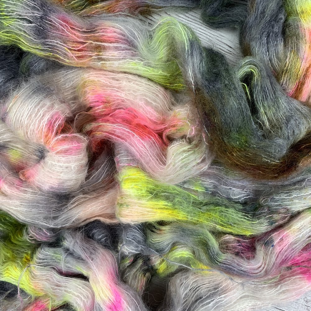 Suri Silk - 74% Baby Suri Alpaca 26% Silk | 328 yards | 50 Grams. Exclusive to our online shop!