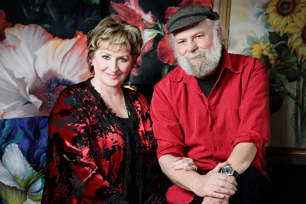Gary and Kathwren Jenkins Televisions #1, Floral Painting Artists