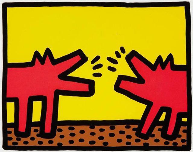 Happy Birthday Keith Haring!  Keith Haring, Barking Dog 1989 ⚡️⚡️DM for info⚡️⚡️ . #keithharing #pascalfineart #popart #streetart #modernart #dogsofinstagram #barkingdog #socool #artforsale #artcollector #haring #pop