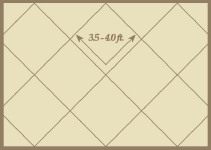 Diagonal Spanish Tile