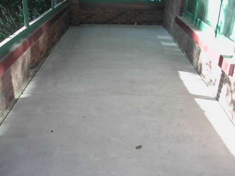 Enclosed Front Porch Concrete Floor After Cleaning By Manual Diamond Grinding