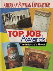 American Painting Contractor Magazine Cover For 2002 Top Jobs Awards Issue
