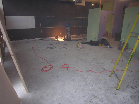 Existing Concrete Floor of New Chicago Custard Shop Before Acid-Staining