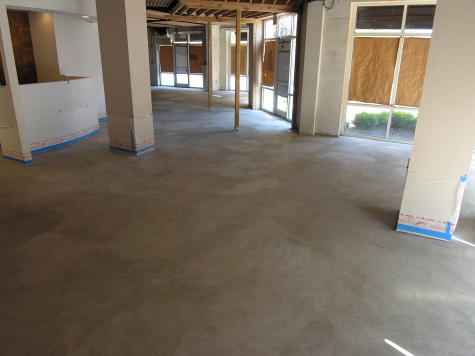 Cleaned Concrete Floor of New Italian Restaurant Prior to Acid-Staining