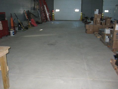 Warehouse Concrete Floor After Cleaning & Before Acid-Staining
