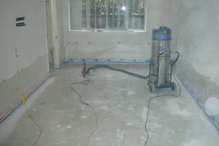 Witalec residence stained concrete flooring photos for Basement concrete cleaner