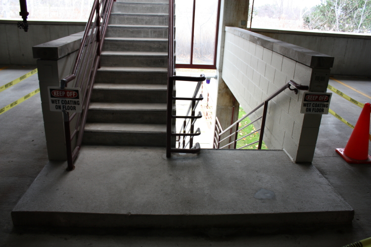 Interior Concrete Stairwell of Parking Deck Prior to Coating