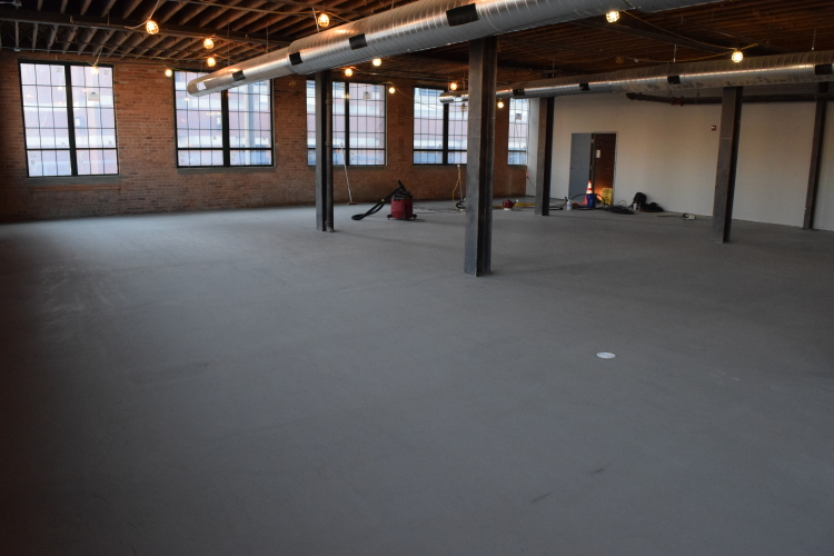 Ardex SDT New Cement Overlay of Old Factory Floor Prepped For Clear Sealer