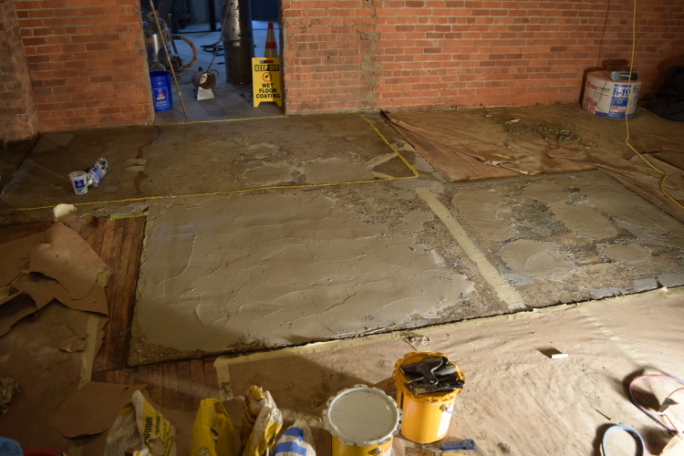 Damaged Concrete Slab Foundation After Repairs